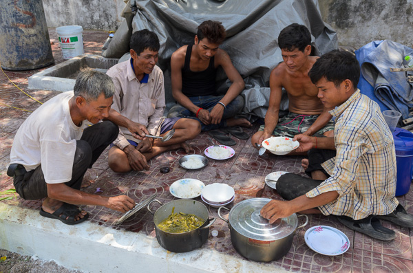 Worker lunch Kampot