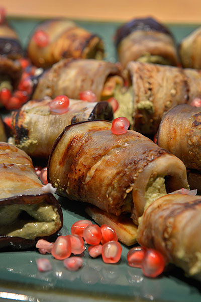 badrijani nigvzit eggplant rolls